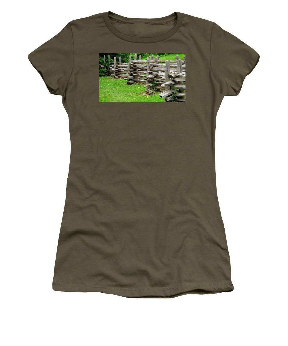 Split Women's T-Shirt (Athletic Fit) featuring the photograph Complex Pattern by Ian MacDonald