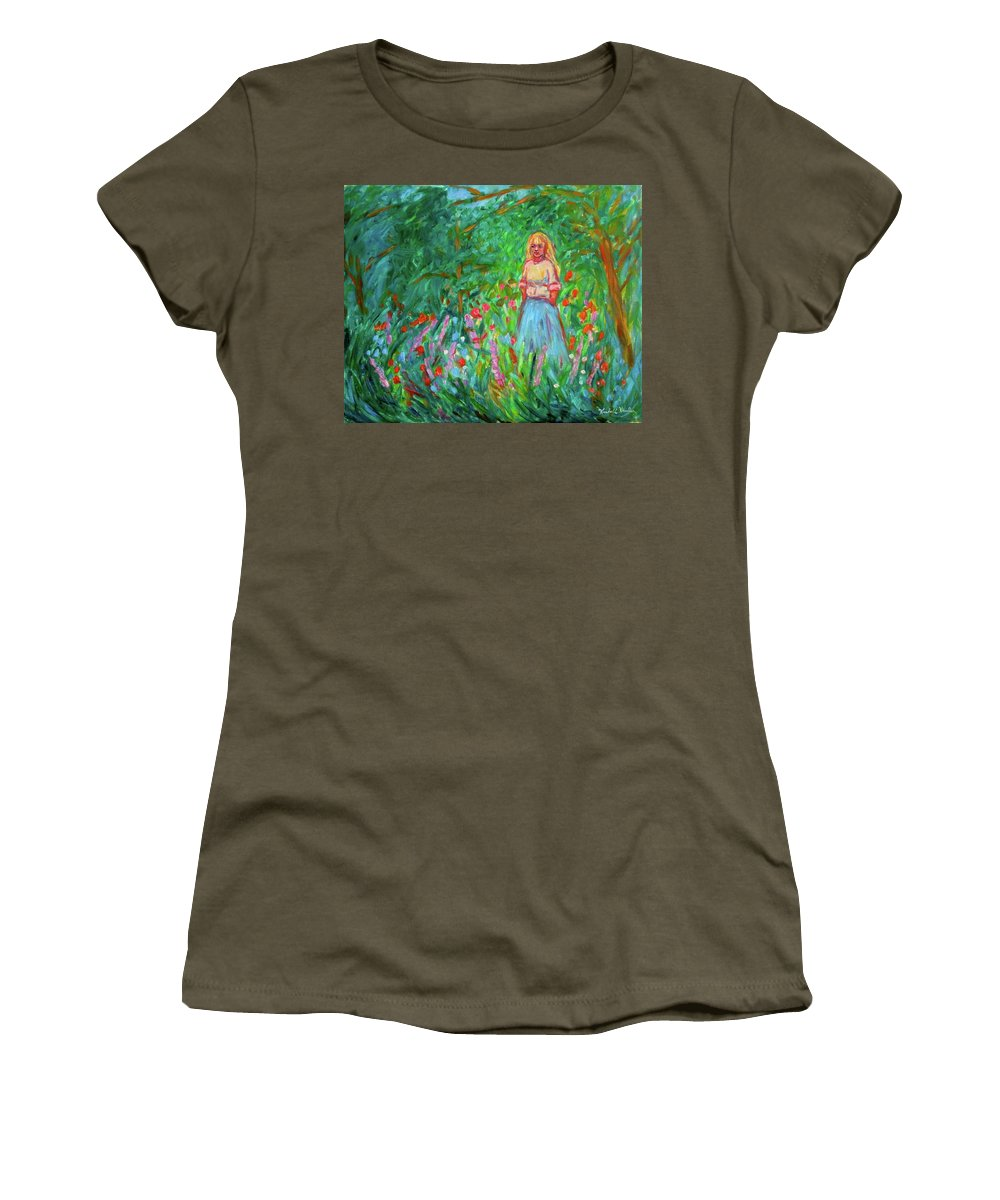 Landscape Women's T-Shirt (Athletic Fit) featuring the painting Contemplation by Kendall Kessler