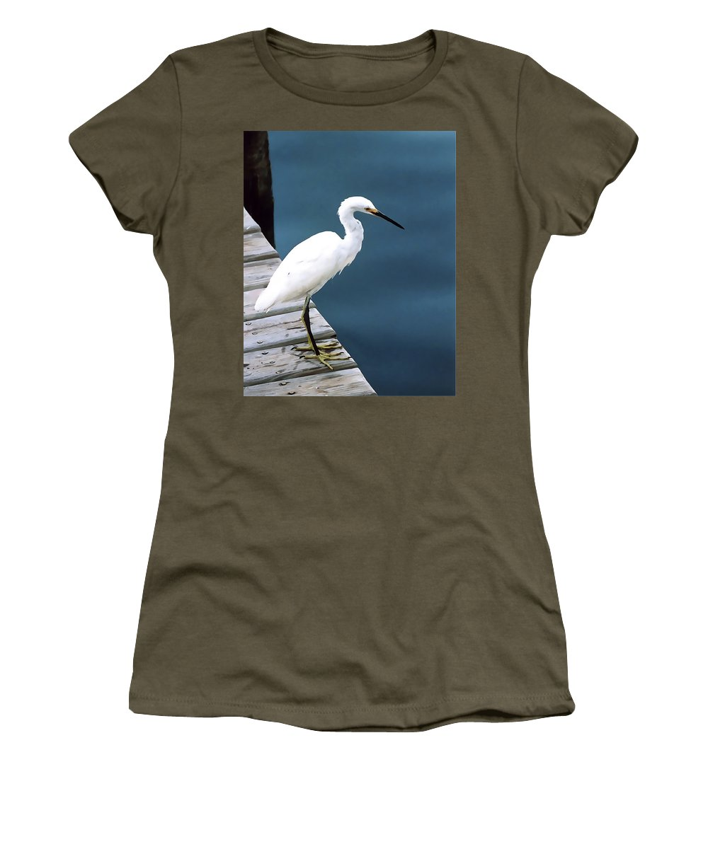 Bird Women's T-Shirt featuring the photograph Contemplation by Terry Fiala