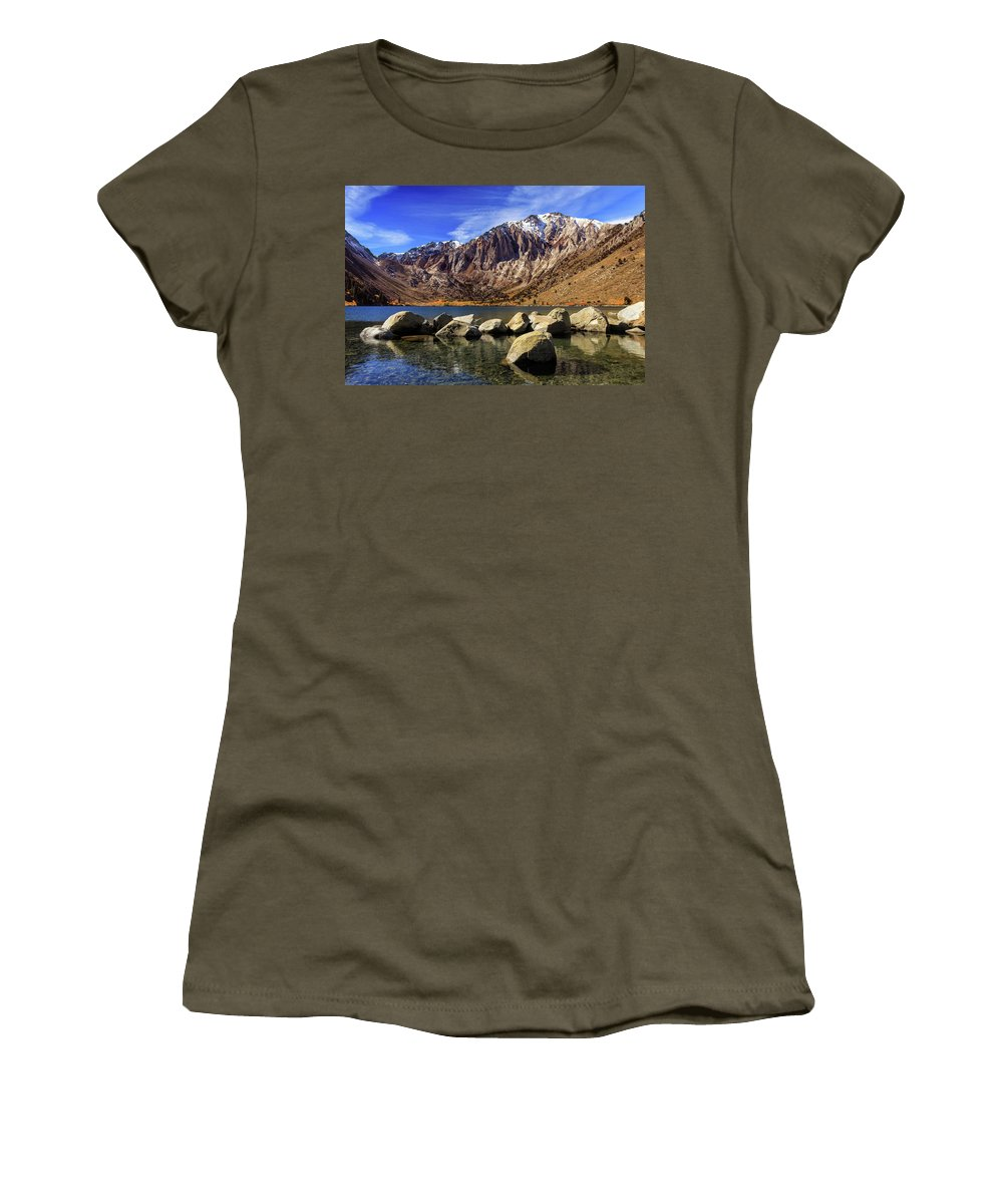 Landscape Women's T-Shirt (Athletic Fit) featuring the photograph Convict Lake by James Eddy