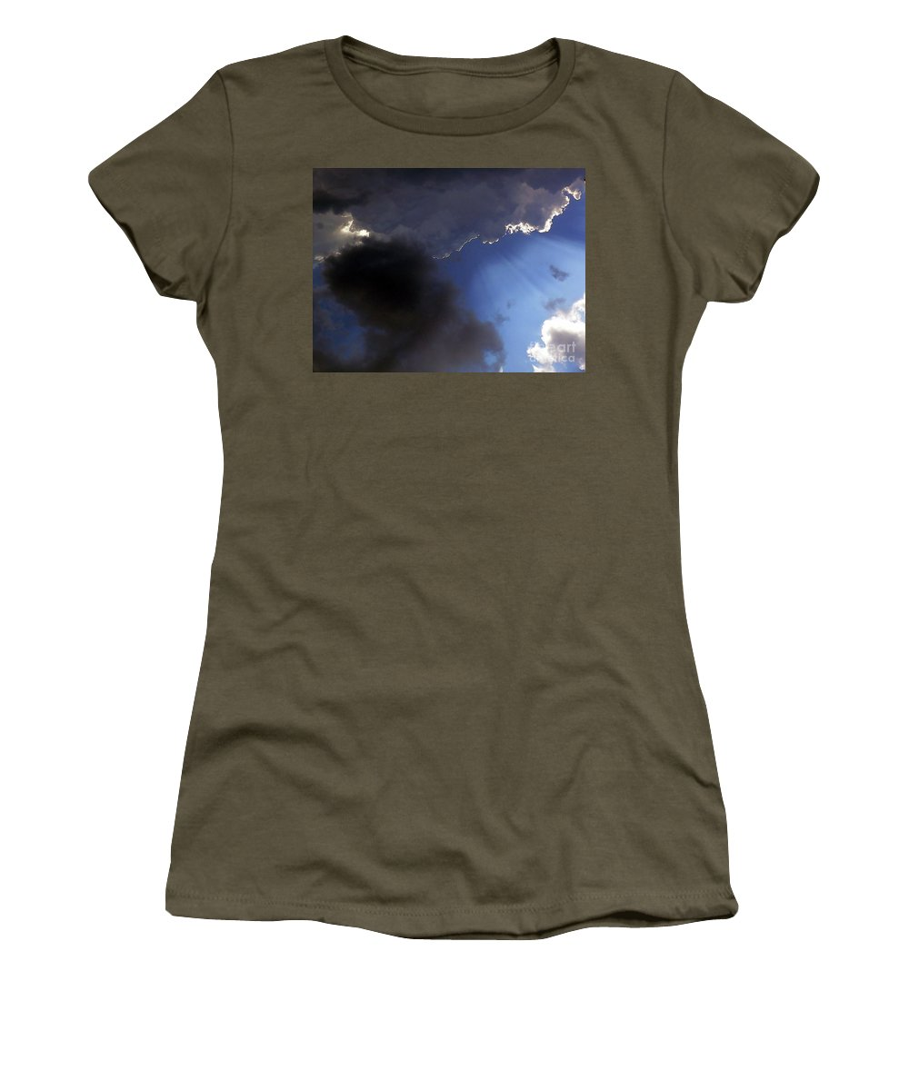Cloud Women's T-Shirt featuring the photograph Cool Clouds by Al Powell Photography USA
