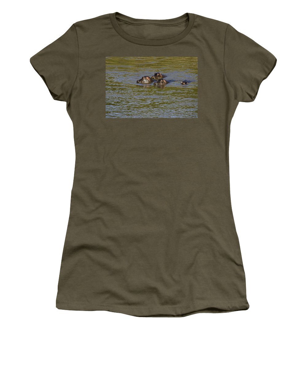 Africa Women's T-Shirt featuring the photograph Cooling Off by Michele Burgess