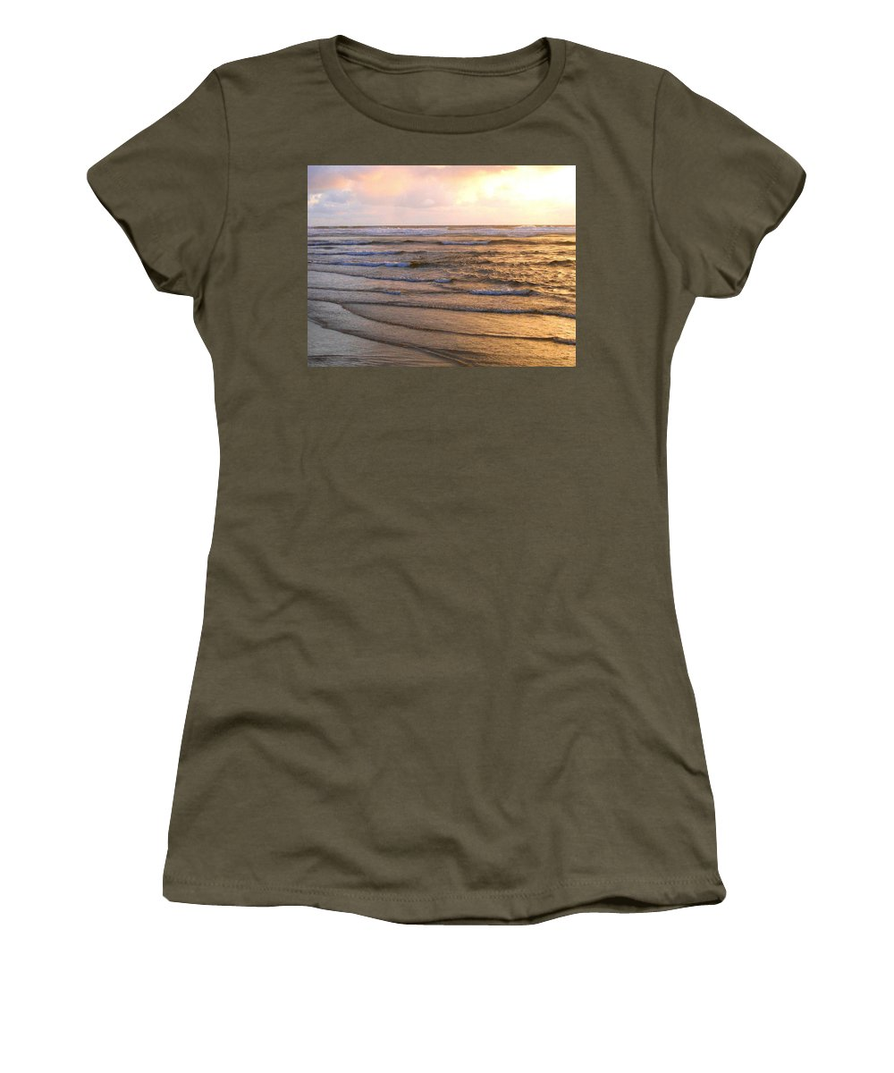 Sunset Women's T-Shirt featuring the photograph Copper Shores by Will Borden
