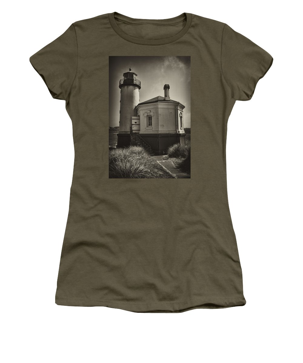 Lighthouse Women's T-Shirt featuring the photograph Coquille River Lighthouse by Hugh Smith