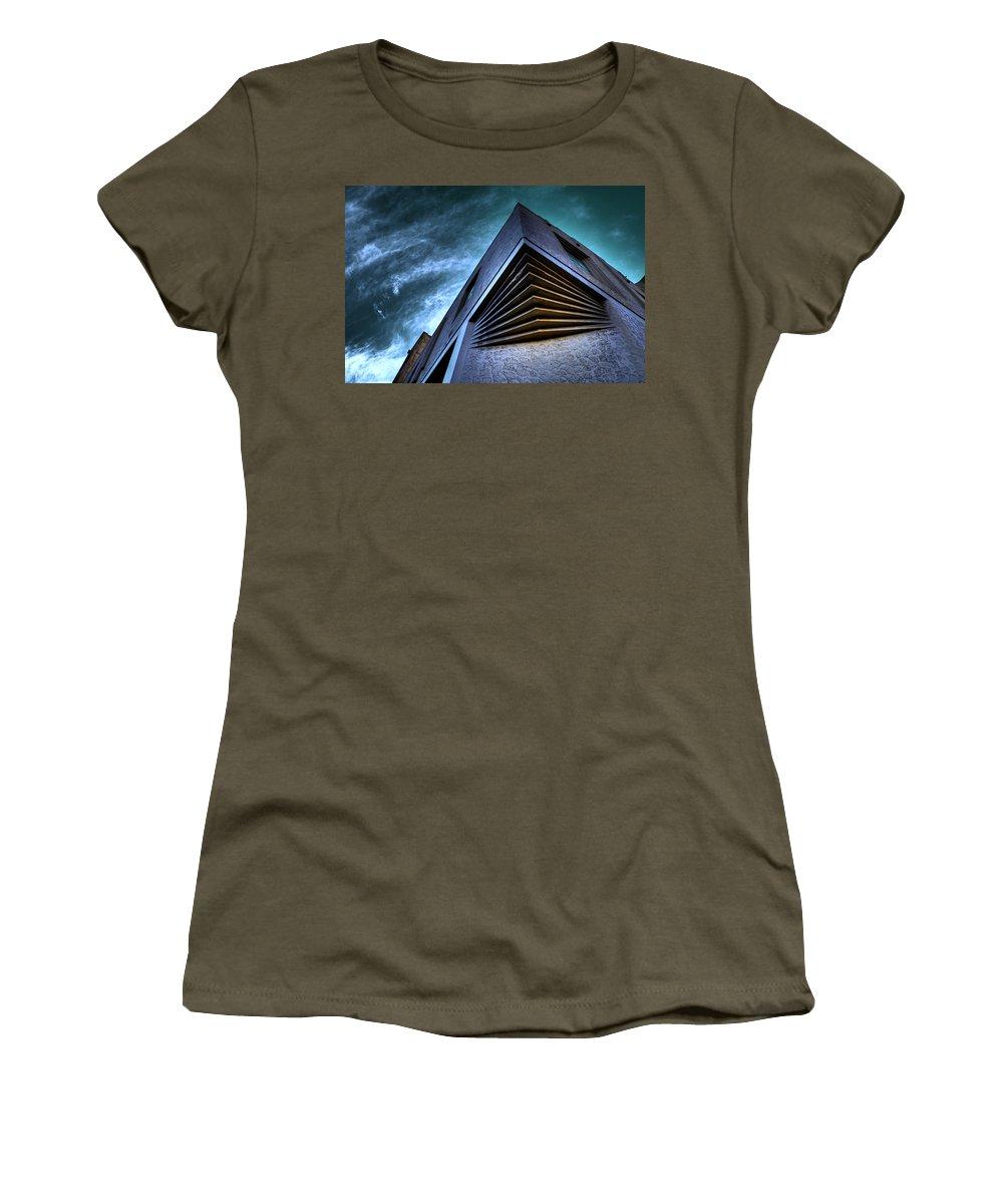 Architecture Women's T-Shirt featuring the photograph Corner Shot by Wayne Sherriff