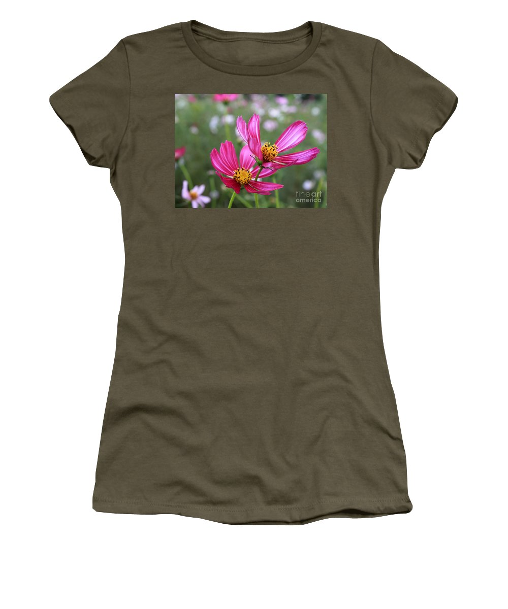 Cosmos Women's T-Shirt (Athletic Fit) featuring the photograph Cosmos In Tokyo by Carol Groenen