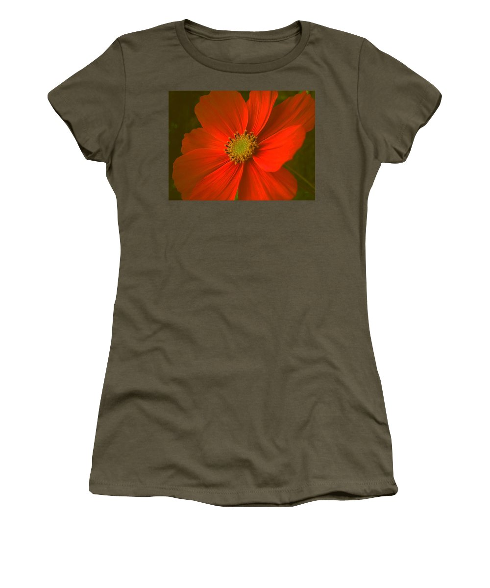 Flower Women's T-Shirt (Athletic Fit) featuring the photograph Cosmos by Juergen Weiss