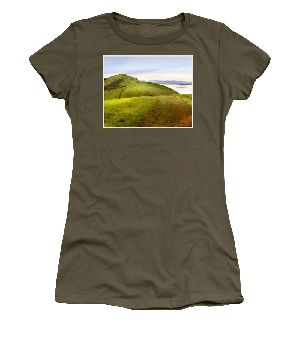 Landscape Women's T-Shirt (Athletic Fit) featuring the photograph Coyote Hills by Karen W Meyer