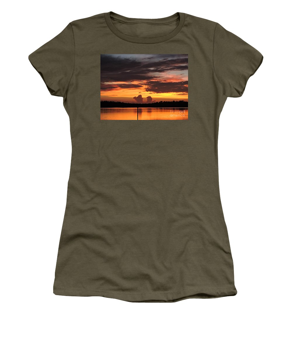 Sunset Women's T-Shirt featuring the photograph Crab Claw Skyline by Marilee Noland