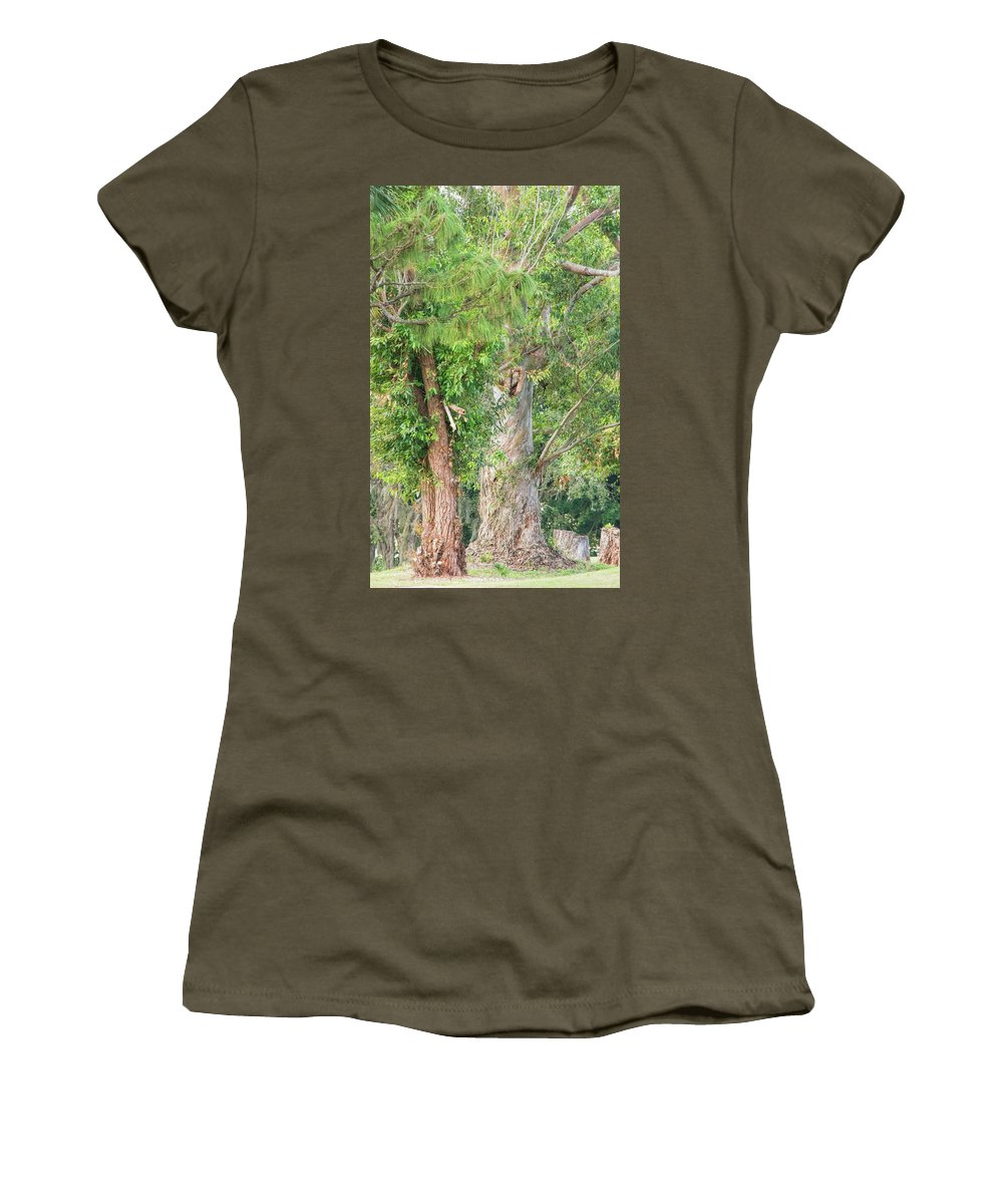 Craggy Tree For Will Women's T-Shirt featuring the photograph Craggy Tree For Will by William Tasker