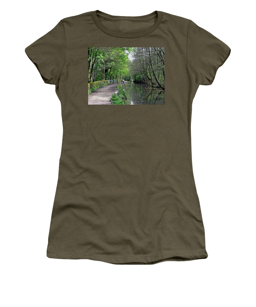Europe Women's T-Shirt featuring the photograph Cromford Canal - Tree Lined Walk by Rod Johnson