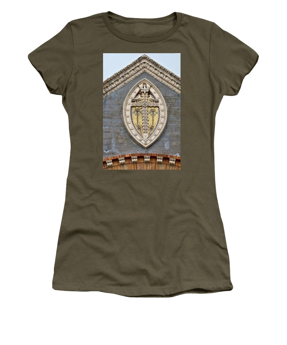 Architecture Women's T-Shirt (Athletic Fit) featuring the photograph Cross On High by Christopher Holmes
