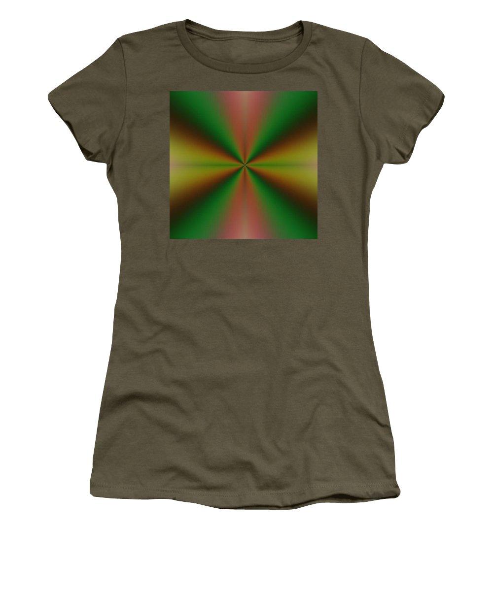 Digital Art Women's T-Shirt (Athletic Fit) featuring the digital art Crossing I by Dragica Micki Fortuna