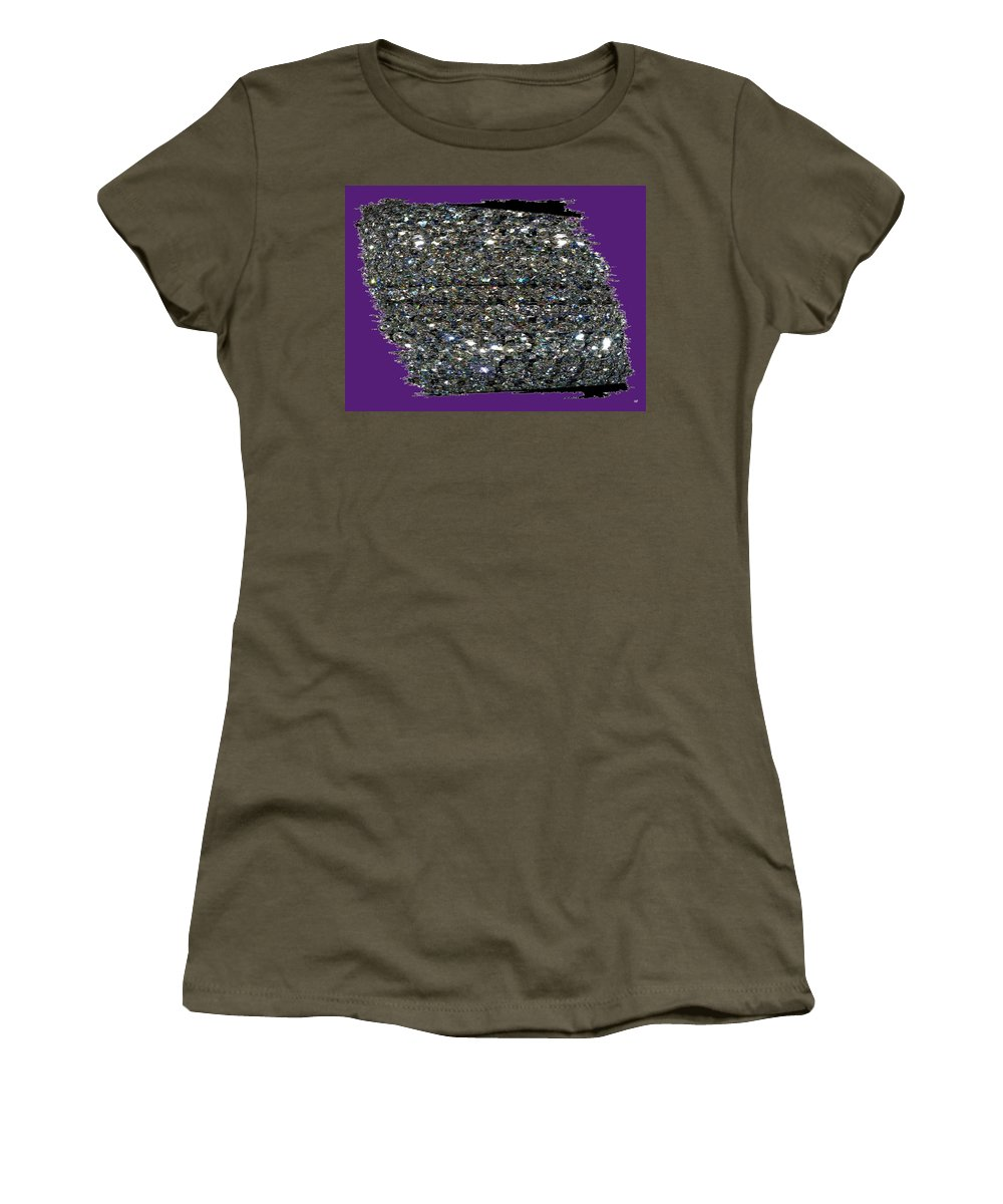 Crystal Women's T-Shirt featuring the digital art Crystal Light by Will Borden