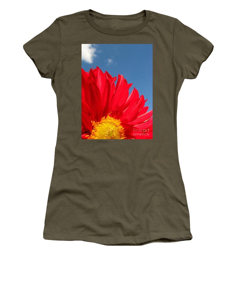 Dahlia Women's T-Shirt featuring the photograph Dahlia by Amanda Barcon