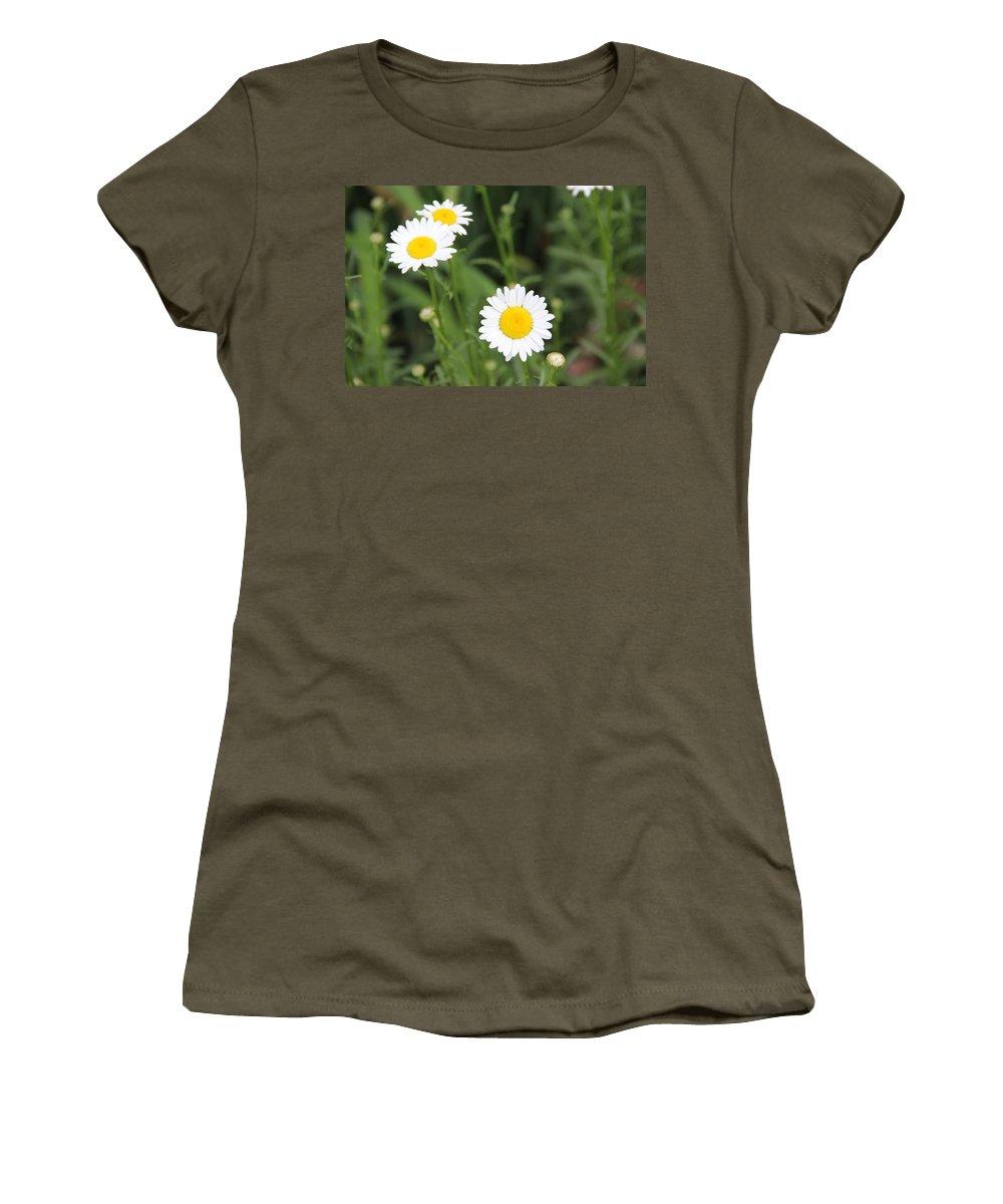 Flower Women's T-Shirt featuring the photograph Daisies by Allen Nice-Webb