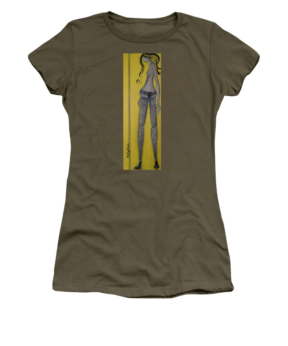 Dancer Women's T-Shirt featuring the painting Dancer by Kelly Jade King