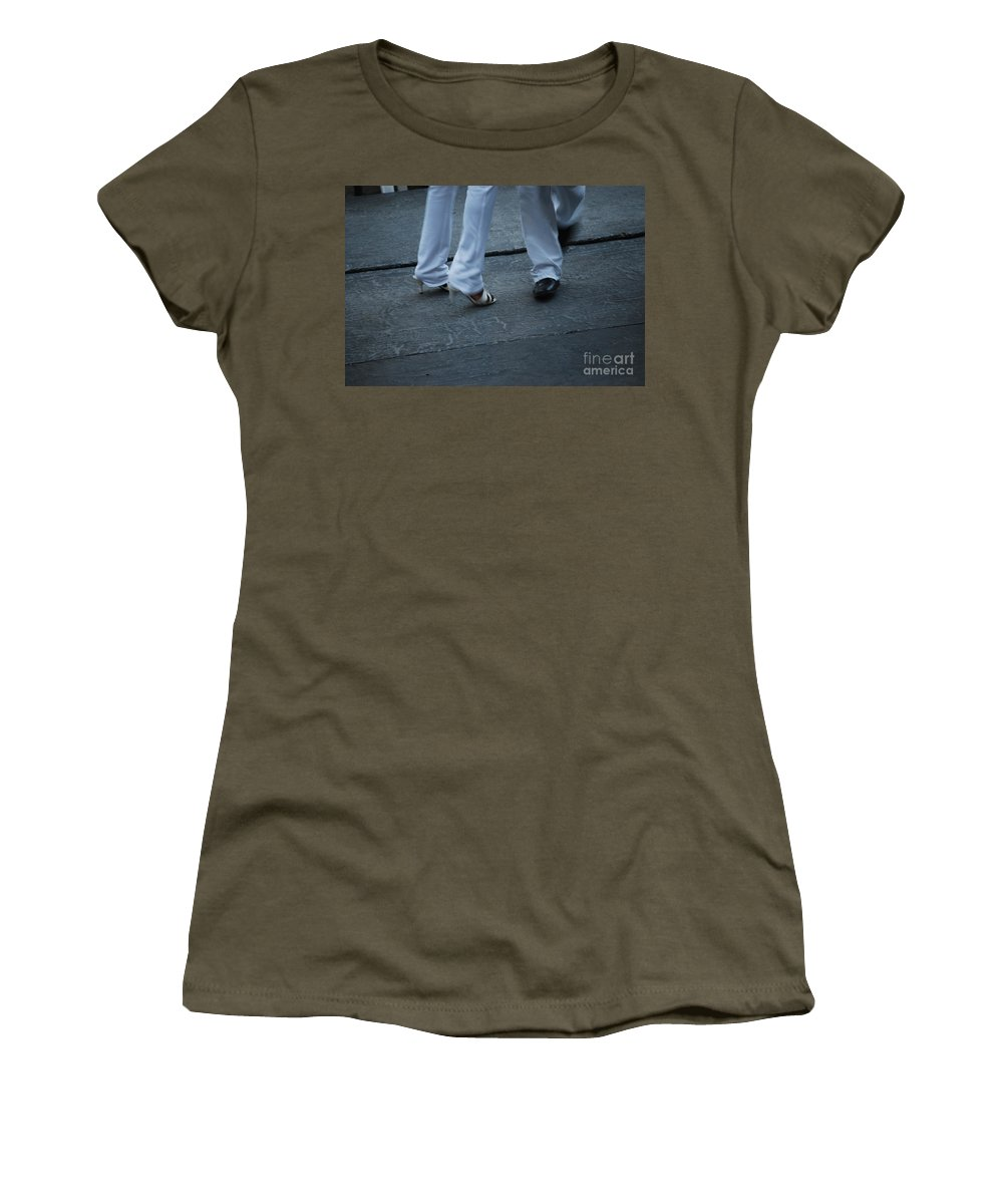 Dancing Women's T-Shirt featuring the photograph Dancing Feet At The Dominican Republic Son Party Number Two by Heather Kirk