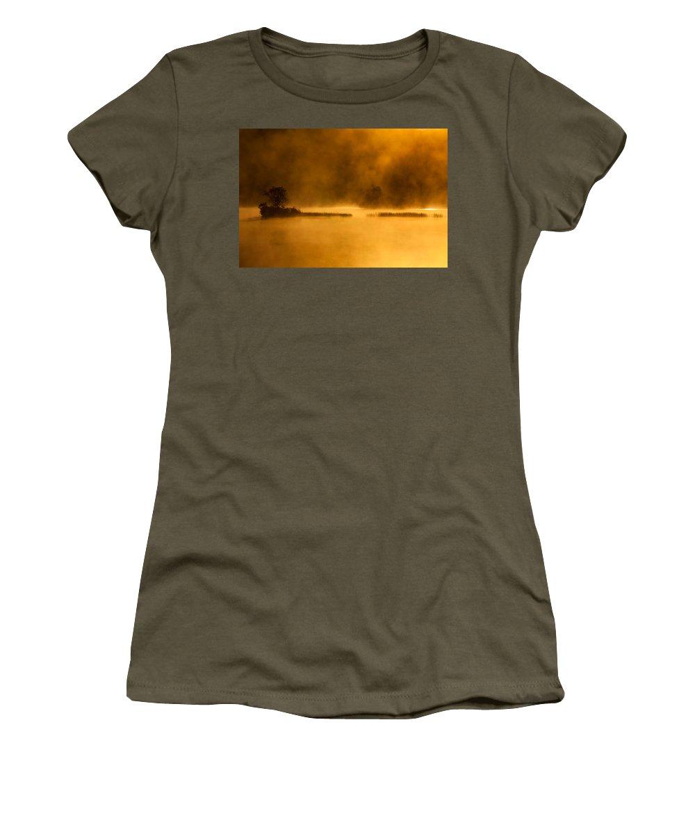 Sunrise Women's T-Shirt featuring the photograph Dantes Lake #2 by Irwin Barrett