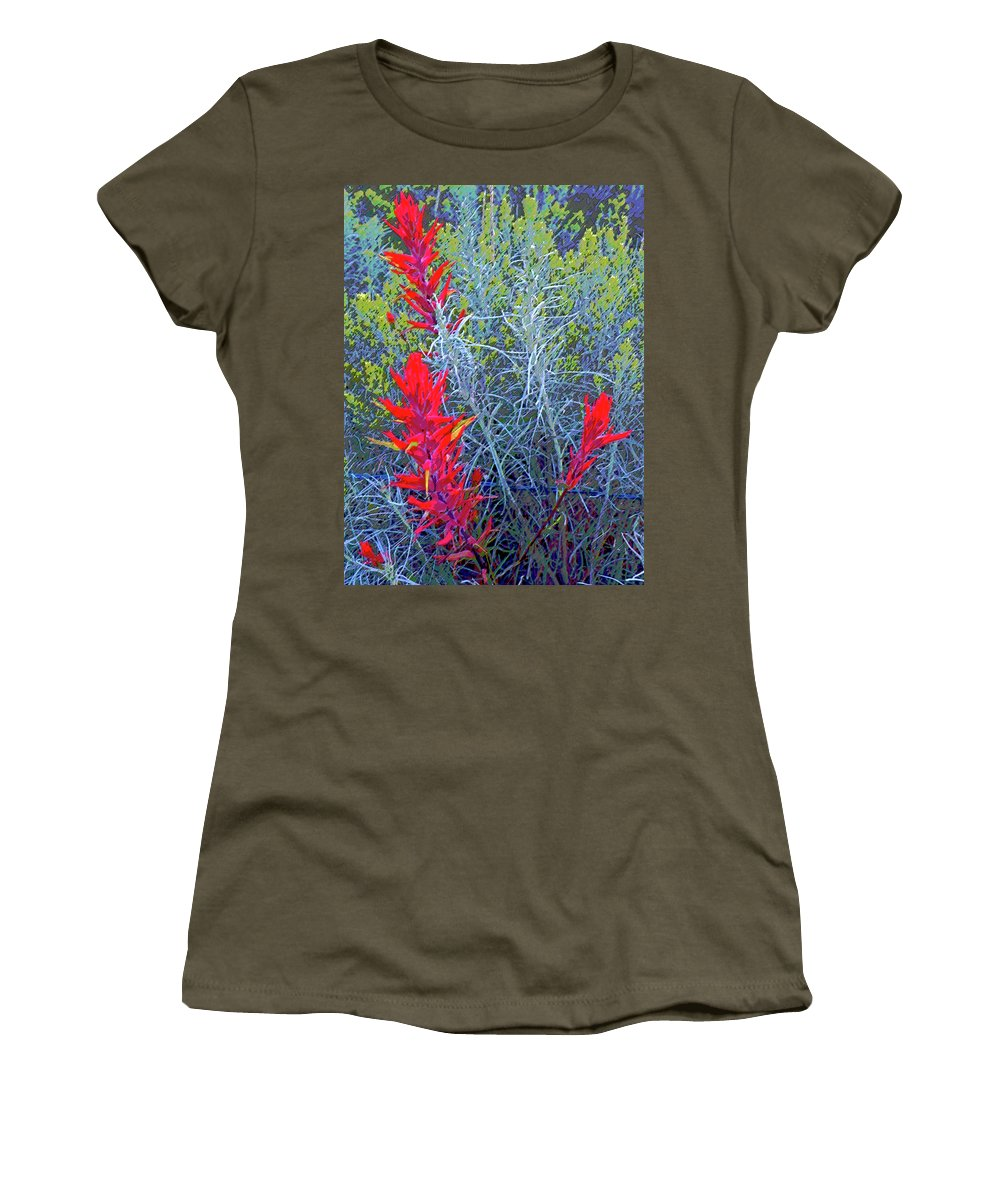 Abstract Women's T-Shirt featuring the photograph Dawns Impressionistic Paintbrush by Lenore Senior