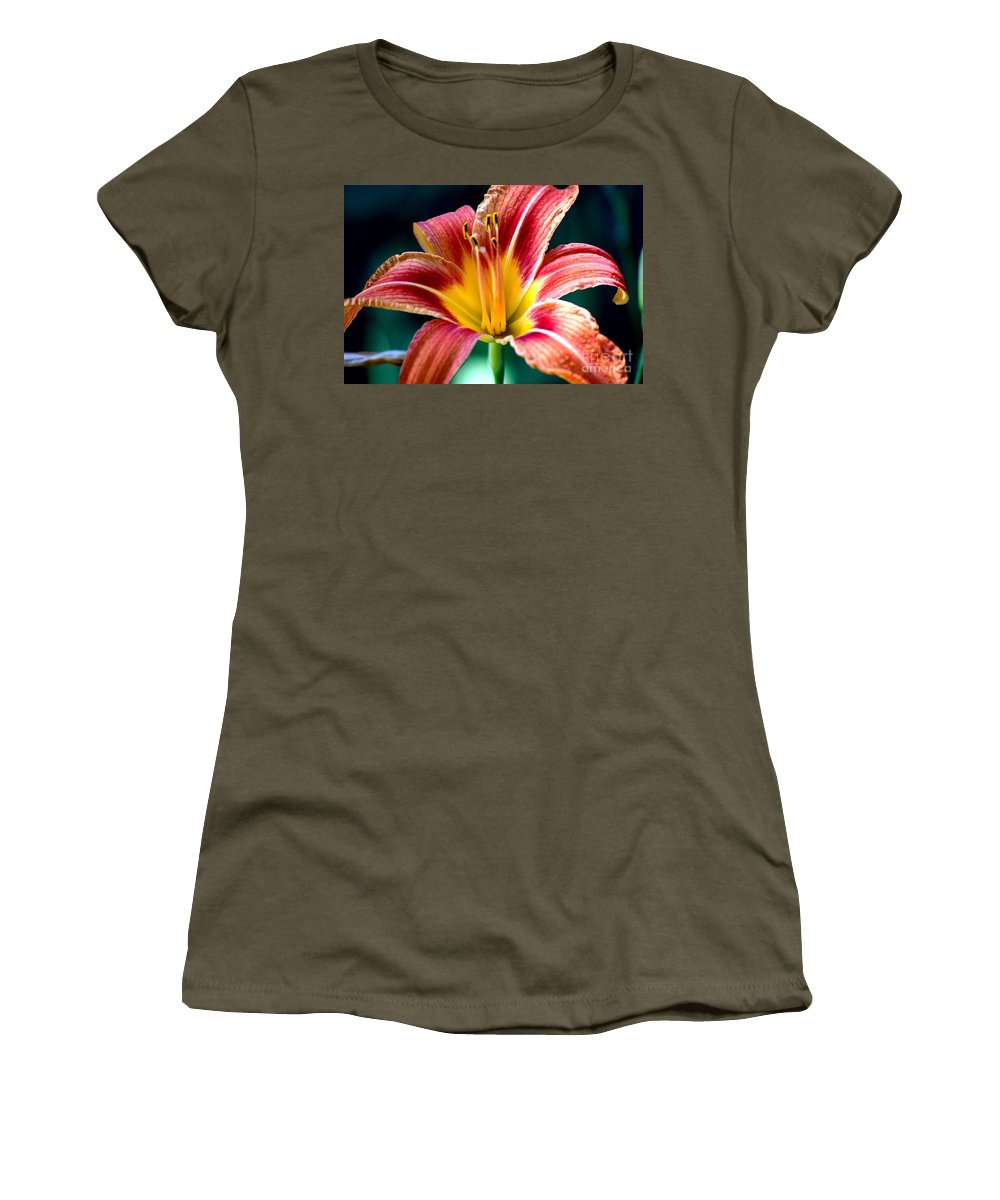 Landscape Women's T-Shirt (Athletic Fit) featuring the photograph Day Lilly by David Lane