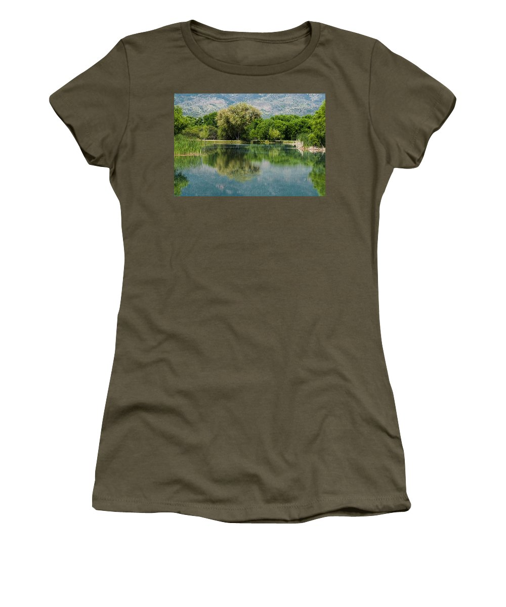 Panoramic Women's T-Shirt featuring the photograph Dead Horse Ranch State Park by Tam Ryan