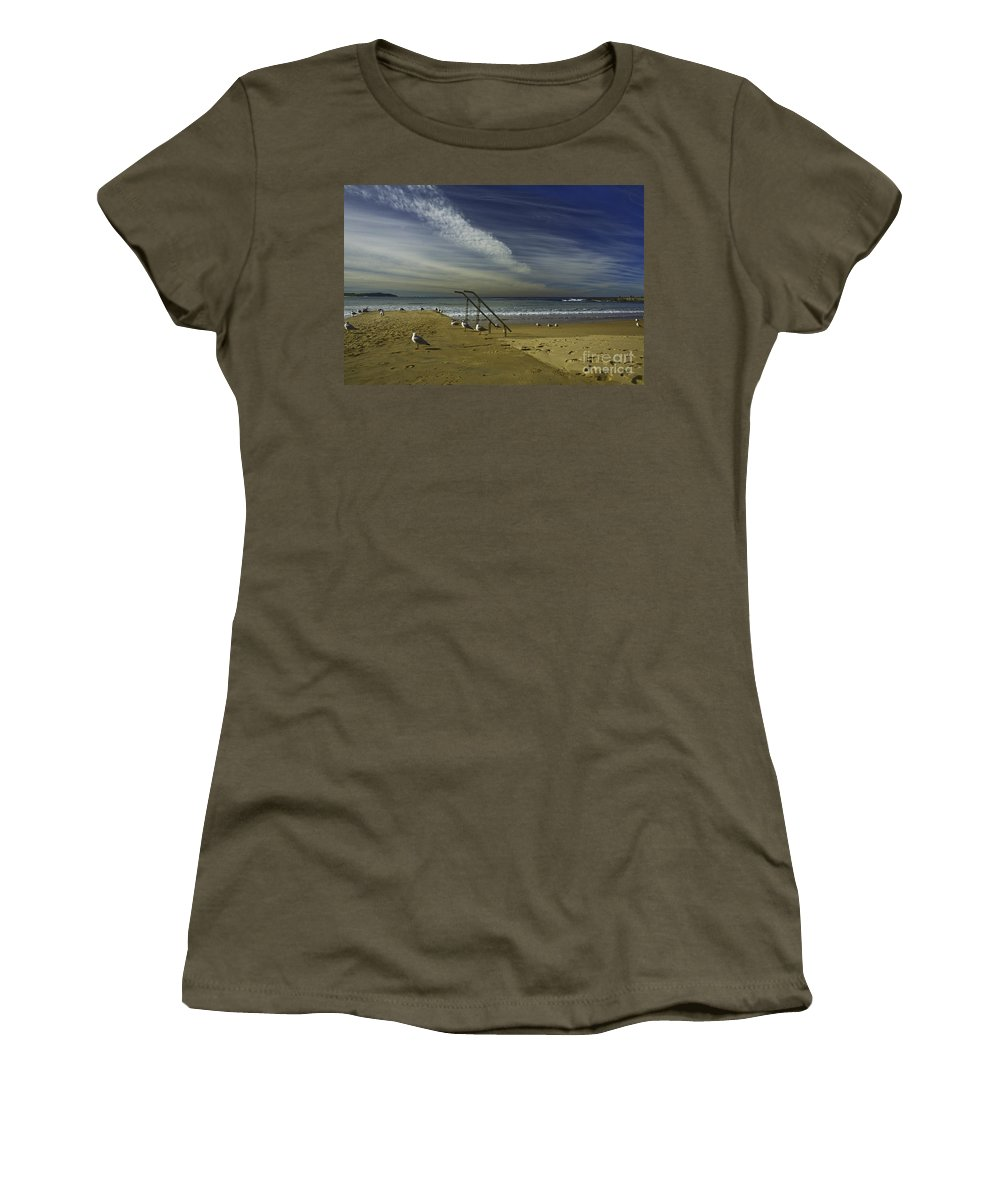 Beach Women's T-Shirt (Athletic Fit) featuring the photograph Dee Why Beach Sydney by Sheila Smart Fine Art Photography