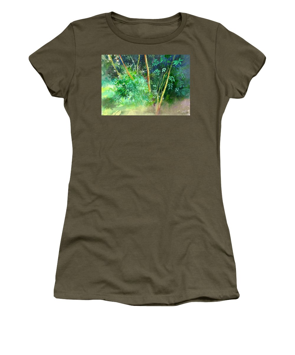 Water Color Women's T-Shirt featuring the painting Deep by Anil Nene