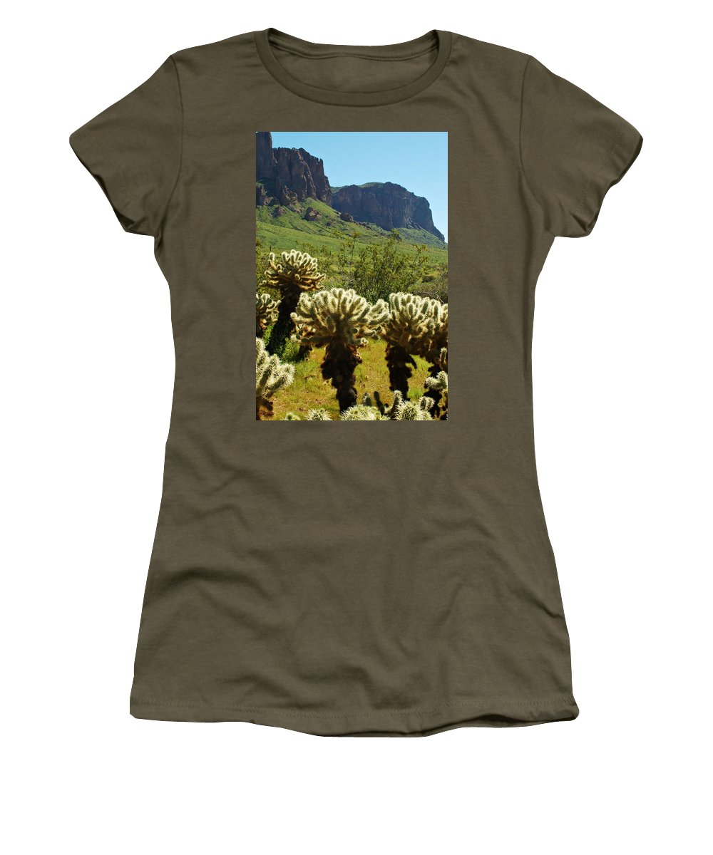 Arizona Women's T-Shirt featuring the photograph Desert Cholla 2 by Jill Reger