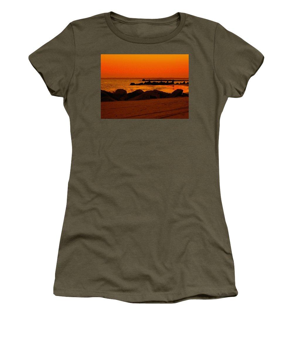 Landscape Women's T-Shirt featuring the photograph Desert Skies by Kendall Eutemey