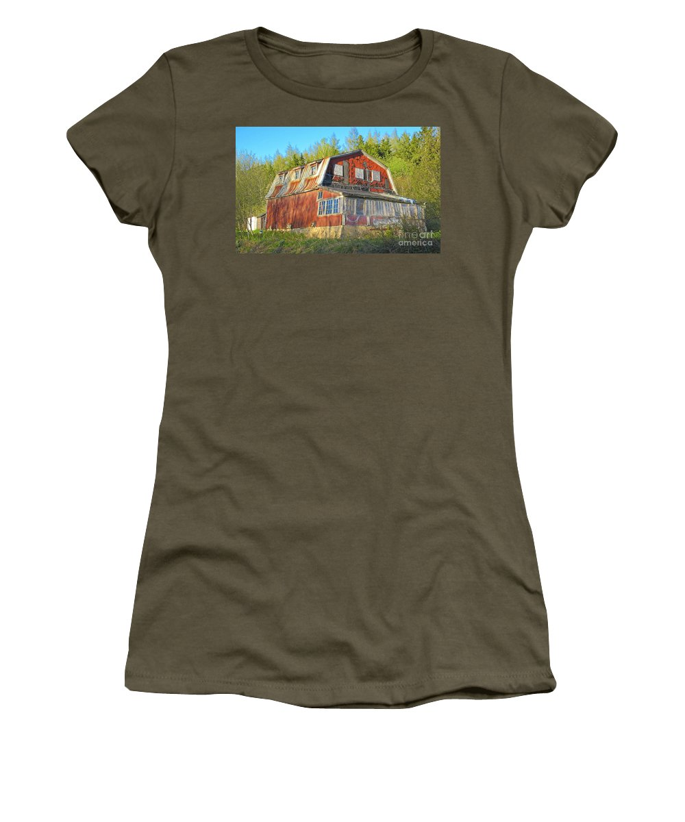 Old House Women's T-Shirt featuring the photograph Deteriorating by John Malone