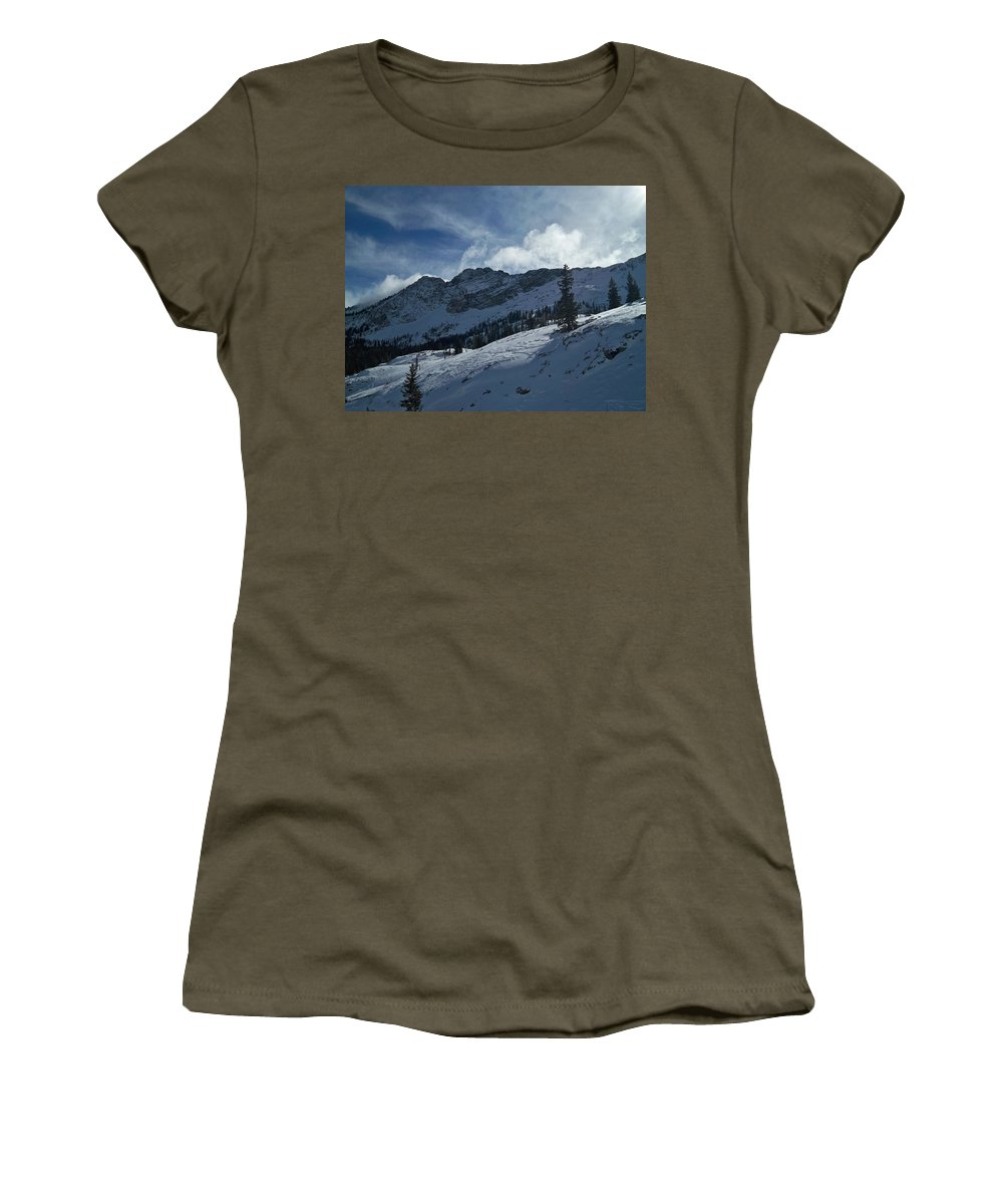 Ski Women's T-Shirt (Athletic Fit) featuring the photograph Devils Castle Morning Light by Michael Cuozzo