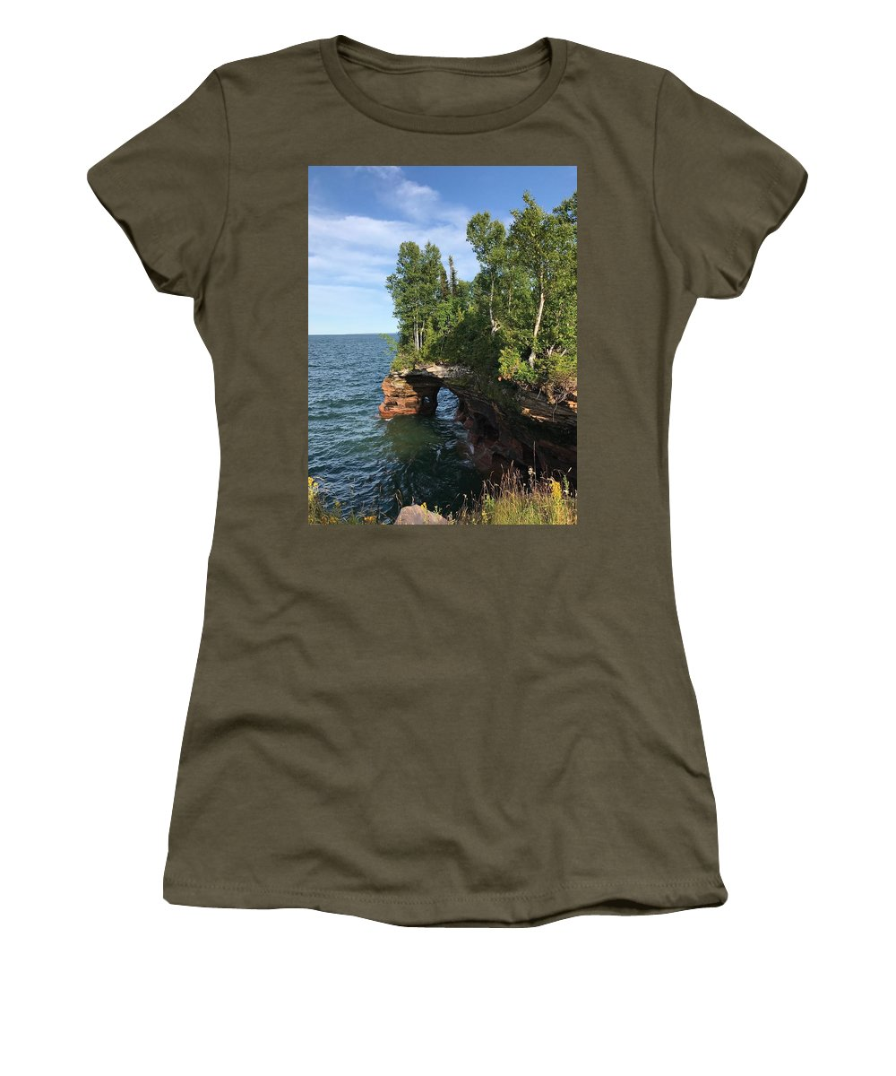 Women's T-Shirt featuring the photograph Devil's Cave by James Stroshane