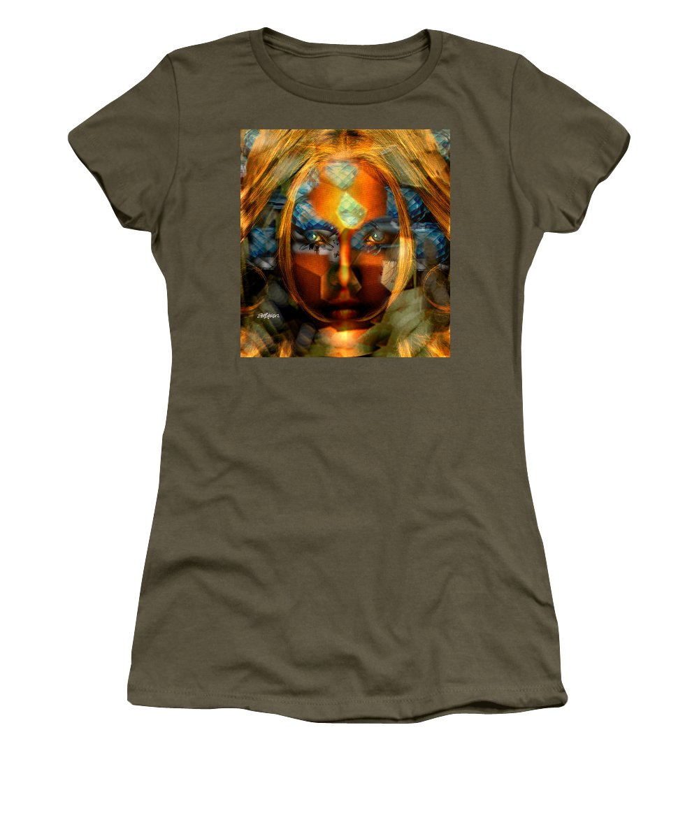 Lady Women's T-Shirt (Athletic Fit) featuring the photograph Diamonella by Seth Weaver