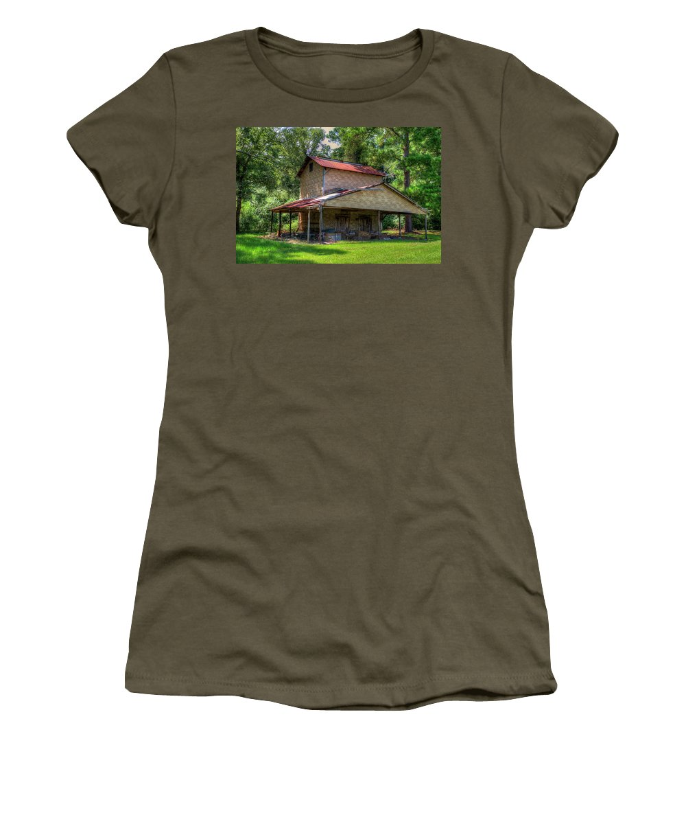 Art Prints Women's T-Shirt featuring the photograph Dilapidated Building One by TJ Baccari