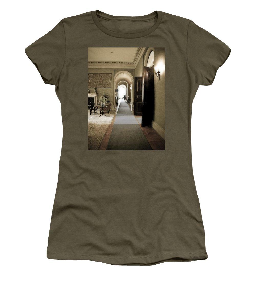 Mansions Women's T-Shirt featuring the photograph Dinner Is Serve4d by Karen W Meyer
