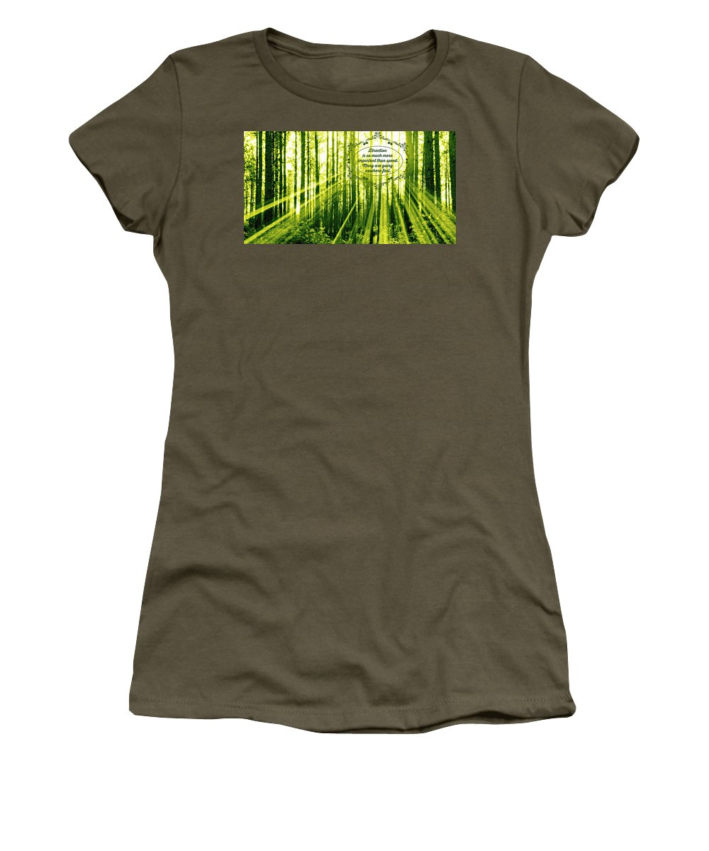 Direction Women's T-Shirt featuring the photograph Direction by Tina Meador