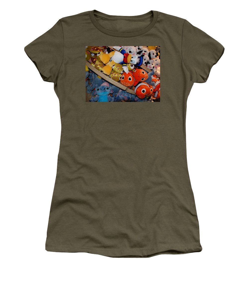 Colors Women's T-Shirt (Athletic Fit) featuring the photograph Disney Animals by Rob Hans
