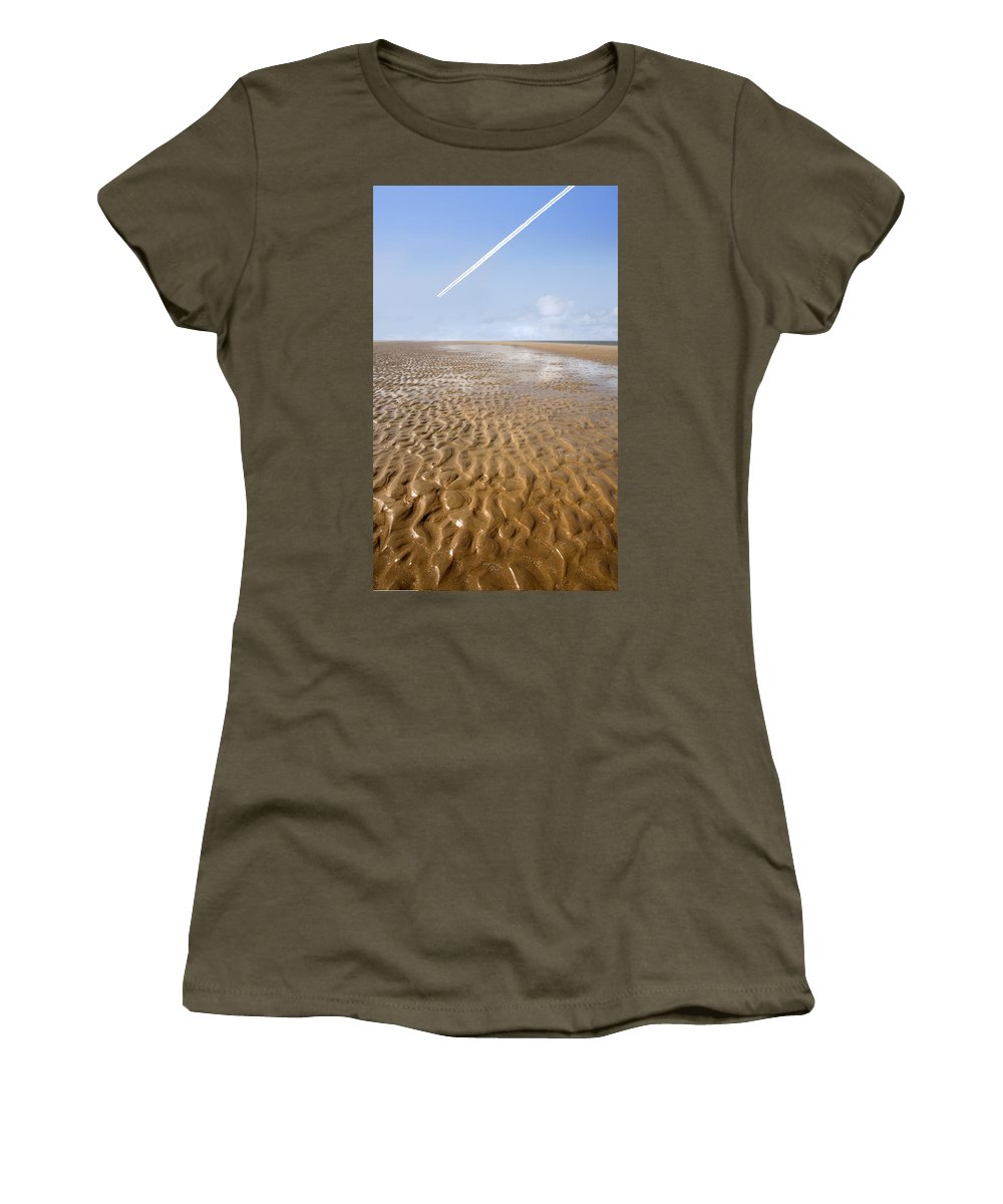 Travel Women's T-Shirt (Athletic Fit) featuring the photograph Distant Horizon by Mal Bray