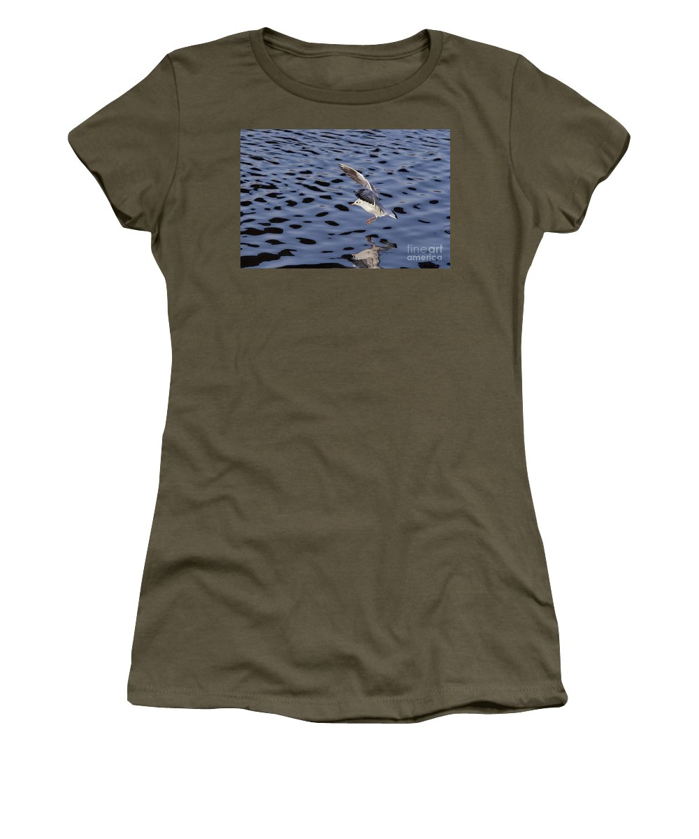 Snapshot Women's T-Shirt (Athletic Fit) featuring the photograph Ditching by Michal Boubin