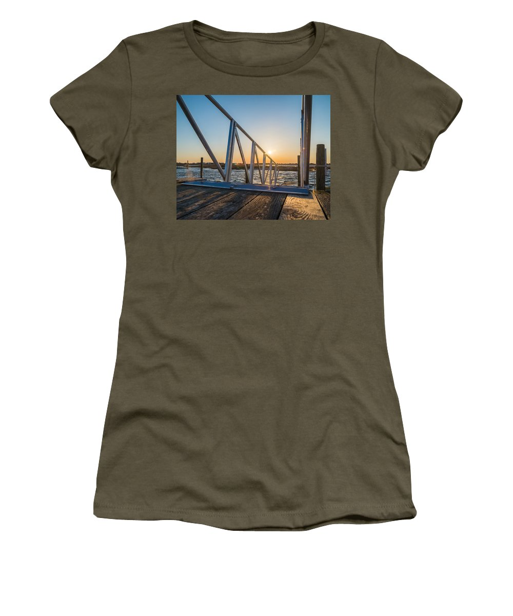 New Jersey Women's T-Shirt featuring the photograph Dock On The Bay by Kristopher Schoenleber