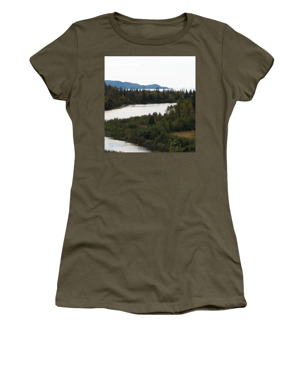 River Women's T-Shirt (Athletic Fit) featuring the photograph Dogleg by Kelly Mezzapelle