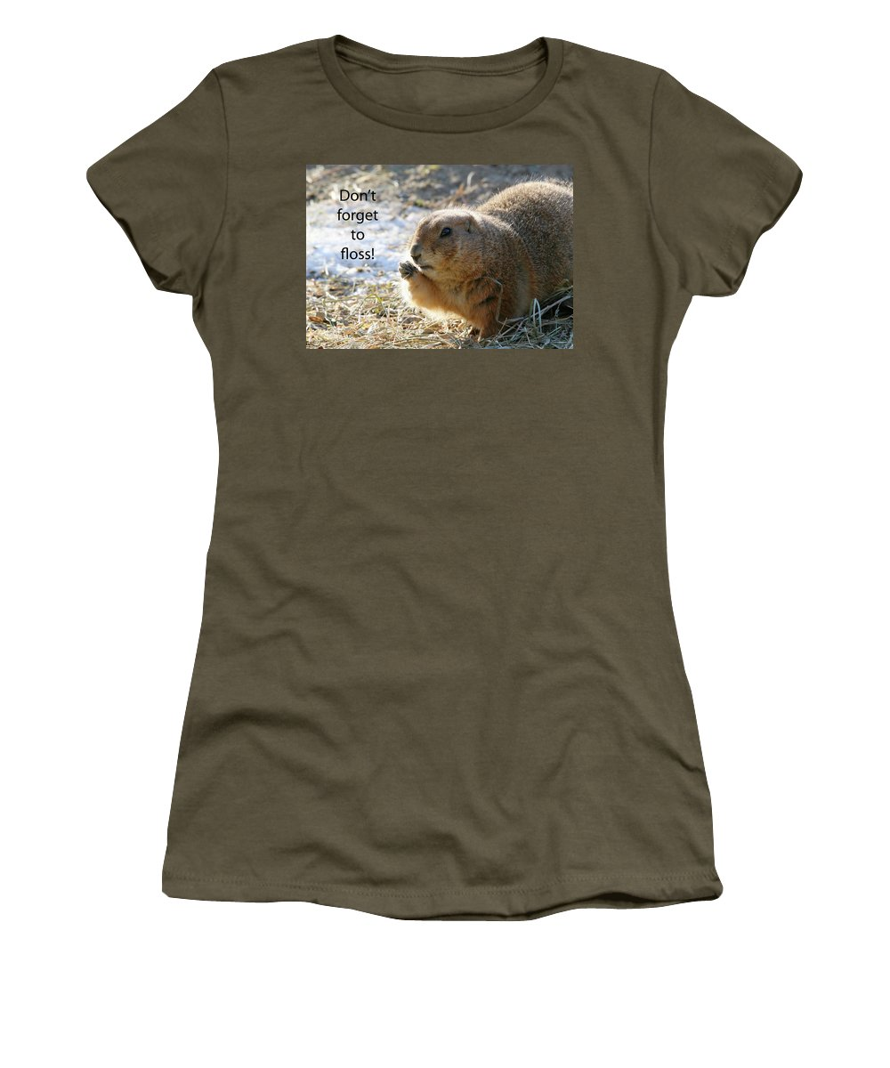 Animal Women's T-Shirt (Athletic Fit) featuring the photograph Dont Forget To Floss by Karol Livote
