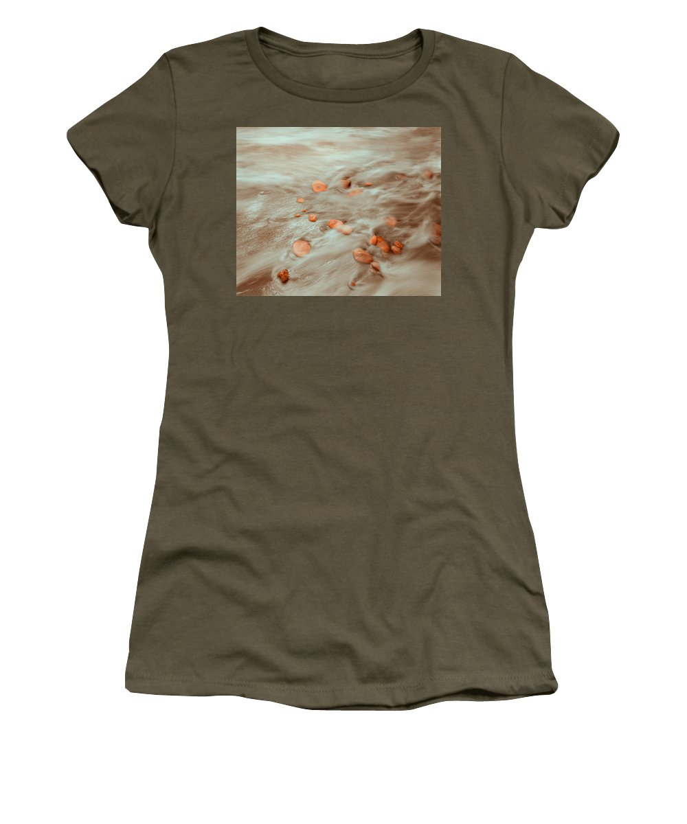 Tides Women's T-Shirt featuring the photograph Dp Stone Impressions 4 by Gary Bartoloni