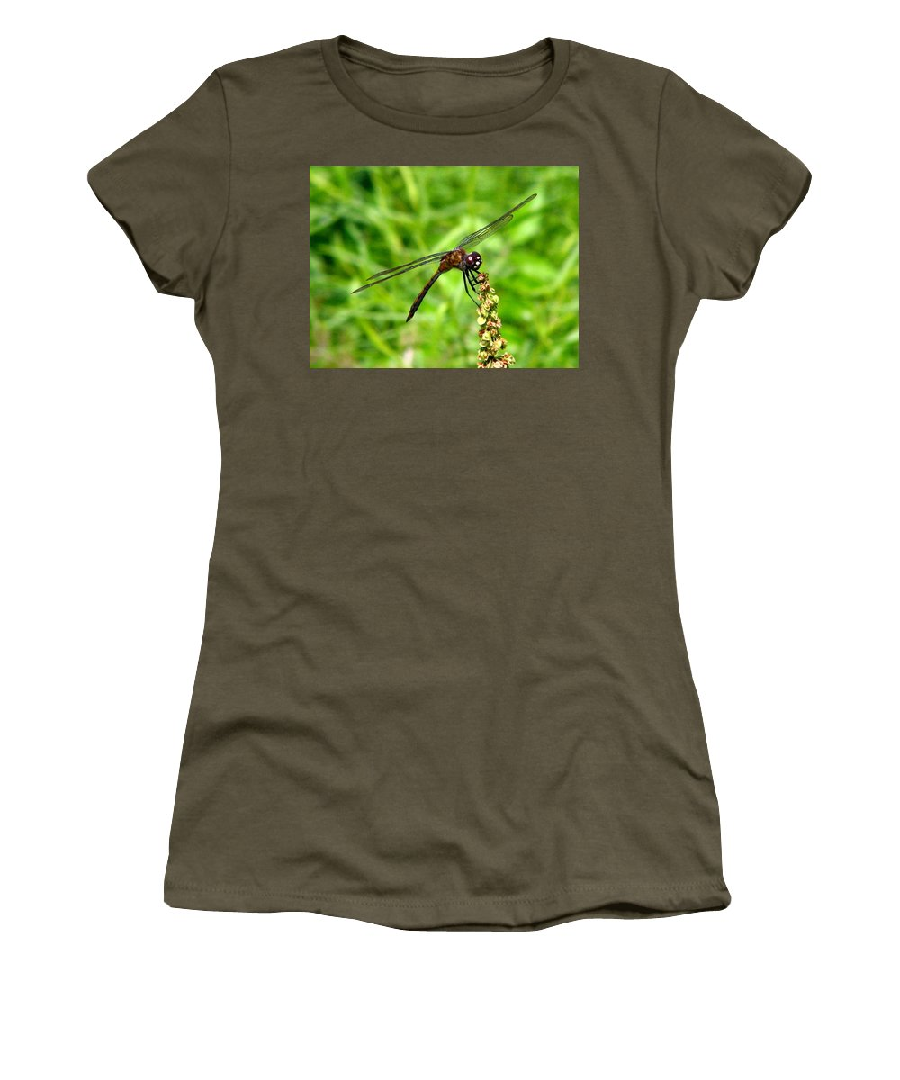 Dragonfly Women's T-Shirt featuring the photograph Dragonfly 7 by J M Farris Photography