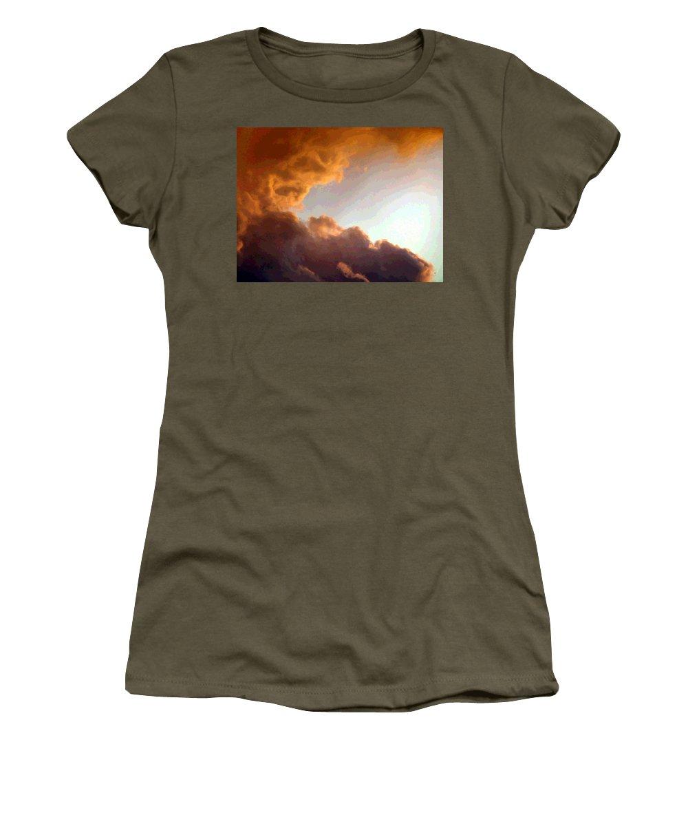 Dramatic Cloud Painting Women's T-Shirt featuring the digital art Dramatic Cloud Painting by Will Borden