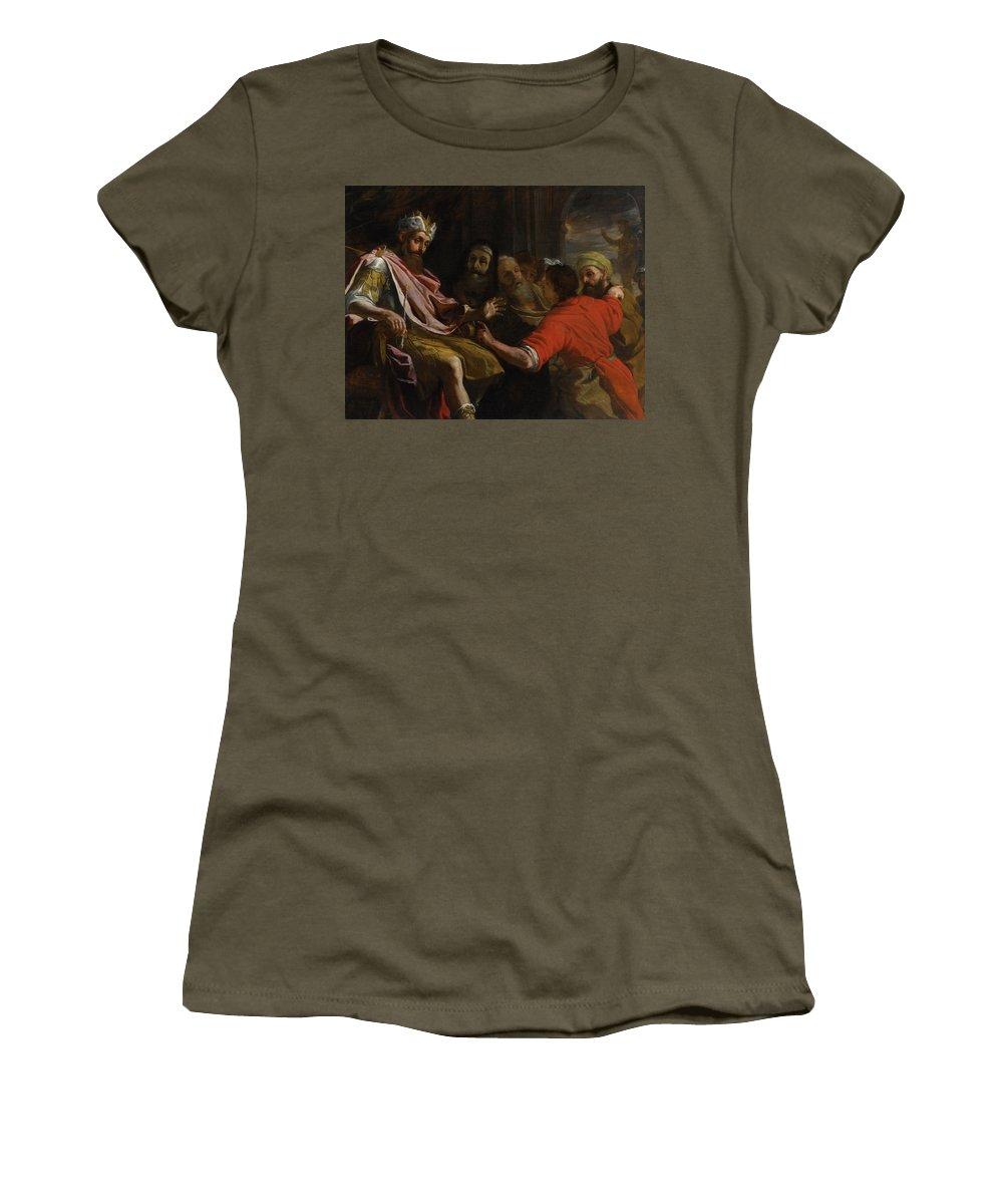 Mattia Preti Daniel Interpreting Nebuchadnezzar's Dream Women's T-Shirt (Athletic Fit) featuring the painting Dream by Mattia Preti