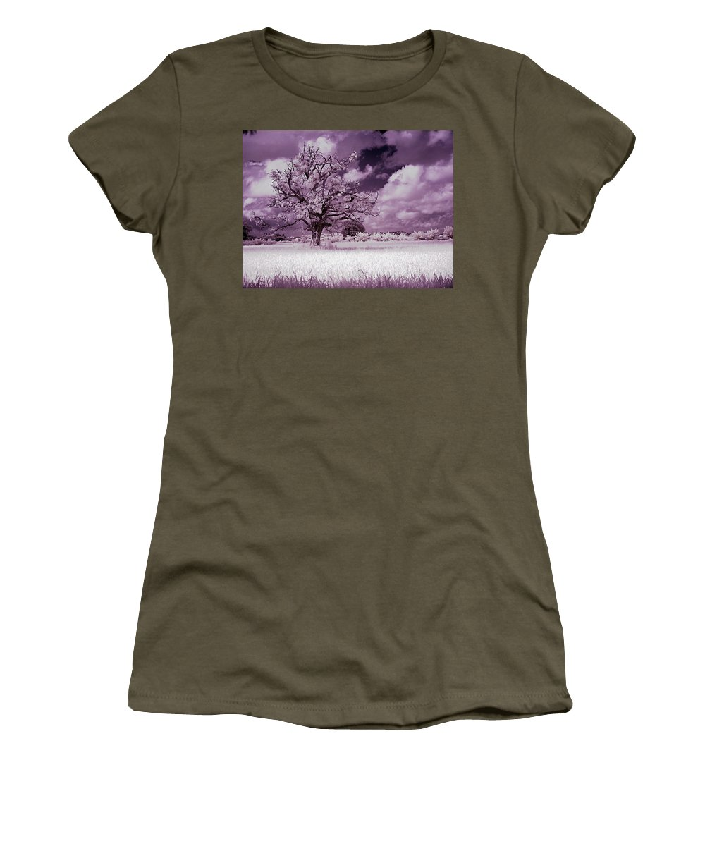 Infrared Women's T-Shirt (Athletic Fit) featuring the photograph Dream Tree by Galeria Trompiz