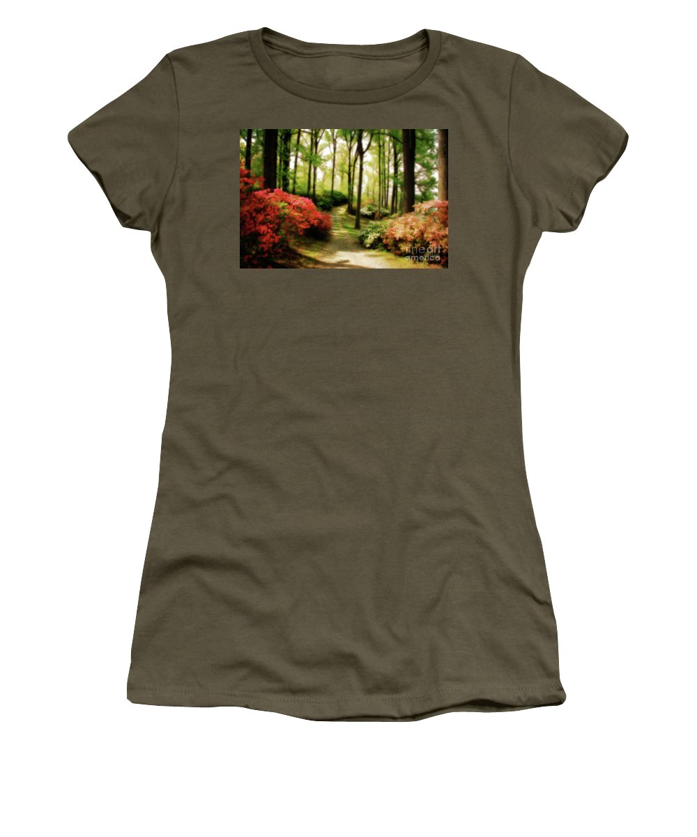 Landscape Women's T-Shirt featuring the photograph Dreamy Path by Lois Bryan
