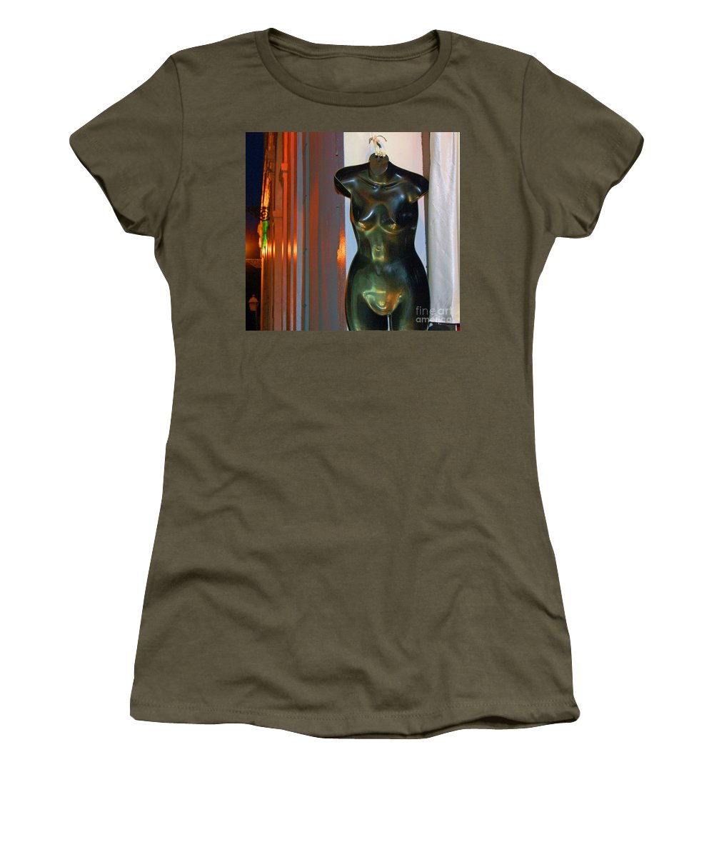 Mannequin Women's T-Shirt featuring the photograph Dress Is Less by Debbi Granruth
